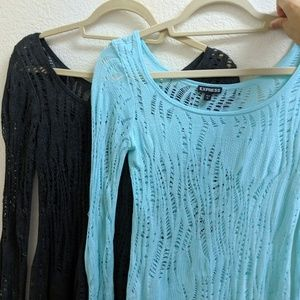2 Express Knit Delicate Long Sleeves